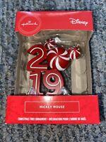 Hallmark Disney Mickey Mouse Christmas Candy Cane 2019 Ornament Peppermint Swirl