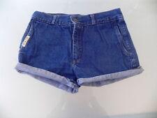 VINTAGE 70s 80s RUN LEE Denim Jeans Shorts Hot Pants Turn Ups On Leg