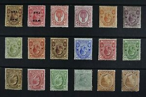 TURKS & CAICOS, QV - KGV, a collection of 18 stamps for sorting, MM condition.