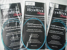 "HiyaHiya Knitting Needles Sharp Steel Circular Needle, 3.0mm x 100cm (40"")"