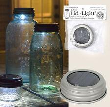 Country/Primitive/Farmhouse/Cottage Solar Lid For Mason Jar -SILVER LID
