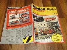 MODELL-AUTO 1/1985 -- FIAT Ritmo Cabriolet / BMW Mettmann /Müllwagen m. 4 Achsen