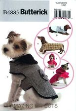 Butterick Sewing Pattern B4885 Dog Coats Hoodie hood clothes XS S M L 4885