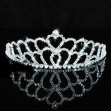 Herz Diadem Tiara Reif Haarschmuck Krone Krönchen Strass  Brautschmuck Hochzeit