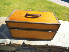 """Birdseye Maple  17 1/2""""x 8 3/4"""" x 9"""" Wood Tackle/Tool  Box with Roll Away Door"""