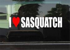 I LOVE SASQUATCH WINDOW/BUMPER STICKER