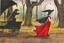 ACEO PRINT OF PAINTING RYTA CROW HALLOWEEN WITCH GOTHIC ART ILLUSTRATION WICCA