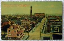 Postcard Light House Birds Eye View Atlantic City New Jersey #289