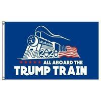 DONALD TRUMP ALL ABOARD THE TRUMP TRAIN 3 X 5 AMERICAN FLAG FL798 president