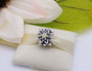 NEW Authentic Pandora Silver EDELWEISS Flower Yellow Charm 791176CZY RETIRED