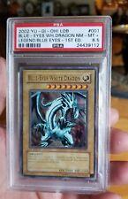 Blue- Eyes White Dragon 1st LOB 001 MINT PSA 8.5 USA North American Print Yugioh