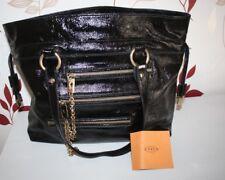 ORIGINAL TOD'S Lackleder Tasche HoBo Bag Schwarz Gold inkl. Dustbag Top Zustand