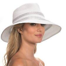 Eric Javits Designer Women's Head-wear Sinclair Hat -White NWT