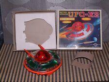 DAIYA VINTAGE B/O, TIN & PLASTIC UFO-X2 SPACE SHIP PERFECTLY WORKING W/BOX!
