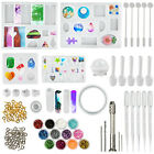145pcs Resin Casting Silicone Molds Epoxy Spoon Kit Jewelry Making Pendant Craft