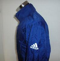 rare vintage Adidas 90s Nylon Regenjacke oldschool blau Jacke 90er Jahre M