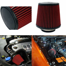 "3"" 76mm High Flow Car Air Filter Inlet Short Ram Cold Intake Round Cone Cleaner"