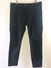 "NEXT khaki green utility ankle length jeans size 16 regular Leg 27 "" with zips"