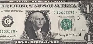 Wow STAR NOTE 1963A $1 DOLLAR BILL ( PHILADELPHIA) , UNCIRCULATED