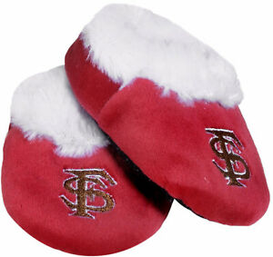 NEW FLORIDA STATE UNIVERSITY Seminoles INFANT SLIPPERS Baby Bootie FSU NCAA NWT!