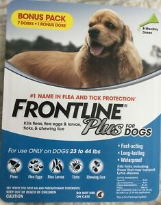 Frontline Plus For Dogs 23-44 lbs. 8 Doses