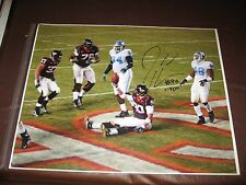 "Jeff King Virginia Tech Hokies After ""TD"" Signed 16x20 Panthers Cards CLEARANCE"