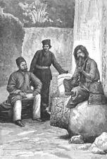 IRAN. Persian dress-Nobleman, Dervish Mendicant c1885 old antique print