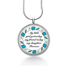 Mother Daughter Necklace-Gift to bride from mom wedding gift to daughter
