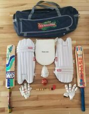 Used Cricket Bat Set w/xtras. Sold As Exactly As Found - Waqar Younis Ball -Look