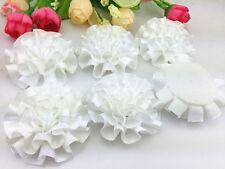 DIY 5/25/50pcs satin ribbon big Peony Flower Appliques/craft/Wedding decoration