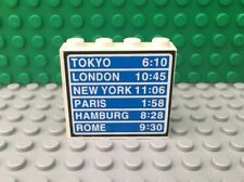 "LEGO City 10159 City Airport - Blue Sign ""Tokyo, London, New York, Paris, Rome"""