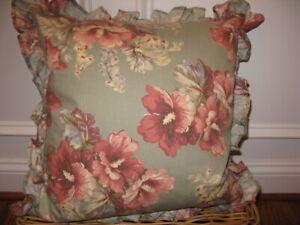 Ralph Lauren Shetland Manor Sage green Floral Decorative Pillows NWT