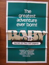 Baby Secret Of The Lost Legend Folded Movie Poster 1985 Africa Brontosaurus