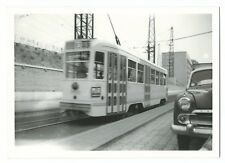 Tram Photo Brussells, Car no 7160, c 1950s PC Size, Note Vauxhall Velox to Right