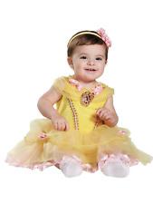 Disney Beauty & the Beast Infant Girls Belle Costume Baby Dress & Headband 6-12M