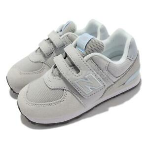 New Balance 574 W Wide Grey Blue Strap Toddler Infant Casual Shoes IV574WN1-W
