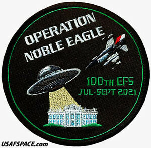 USAF 100TH EXPEDITIONARY FIGHTER SQ -OPERATION NOBLE EAGLE 2021- ORIGINAL PATCH
