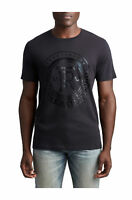 True Religion Men's True Crest Graphic Tee T-Shirt in Black
