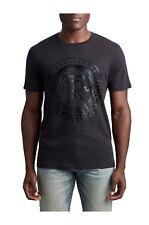True Religion Men's True Crest Graphic Tee T-Shirt in Black