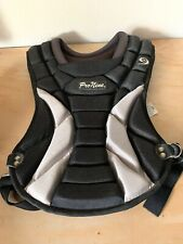 Pro Nine Cp15 baseball chest protector black and silver