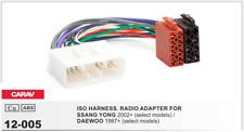 Carav 12-005 conector ISO OEM radio adaptador Ssang Yong 2002 Daewoo 1997