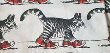 Kliban Cat Red Shoes King Flat Sheet