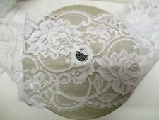2mtrs of 5inch Flat White lace Rose Design - Made in Nottingham