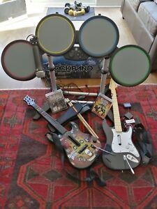 PS3 Beatles Rockband and PS3 Guitar Hero.