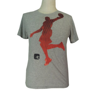 AND1 Basketball t-shirt youth extra large adult small gray short sleeve