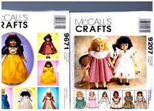 """2 McCall s OOP PATTERNS 9207 & 9671 Doll Dress Clothes Fits 18"""" American Girl"""