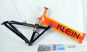 """Vintage KLEIN MANTRA Race Koi Orange Full Suspension Mountain Bike FRAME 19.5"""" L"""