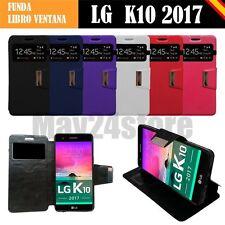 Funda soporte libro ventana LG K10 2017