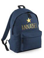 Personalised Name Backpack - Printed Customised Rucksack Adults Bag Kids School