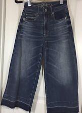 American Eagle Super Stretch Festival Crop jeans size 00 Euc G12